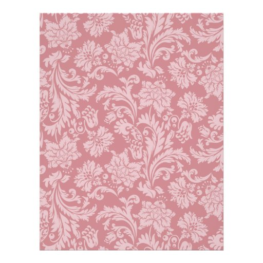 Pink Chintz Pattern Card Stock DIY Scrapbooking Full Color Flyer