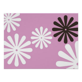 Pink Chocolate Hippy Flower Poster