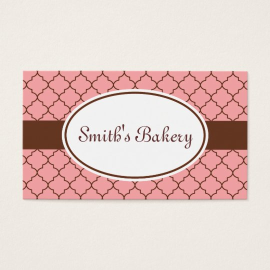 Pink Chocolate Pattern Business Card