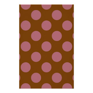 Pink Chocolate Polkadots Stationery