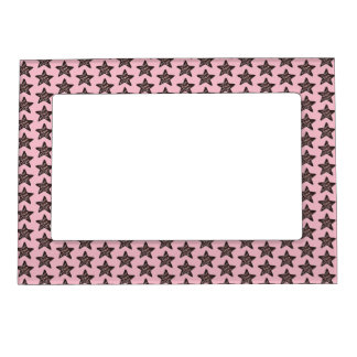 Pink Chocolate Star Peppermint Christmas Cookie Magnetic Frame