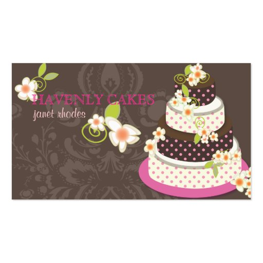 Create cake business cards images card design and card template create your own bakery baker business cards page6 pink chocolate wedding cakebakeryptisserie business card templates reheart reheart Choice Image