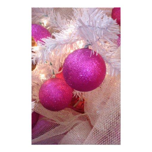 Pink christmas balls full color flyer