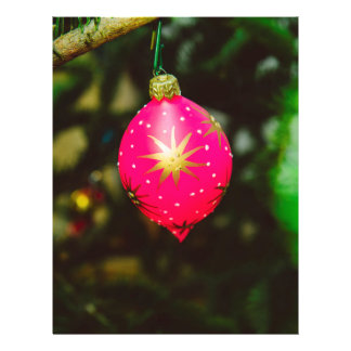 Pink Christmas bauble 21.5 Cm X 28 Cm Flyer