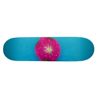 Pink Christmas bauble Skate Board