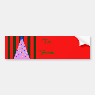 Pink Christmas Bumper Stickers