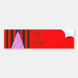 Pink Christmas Car Bumper Sticker