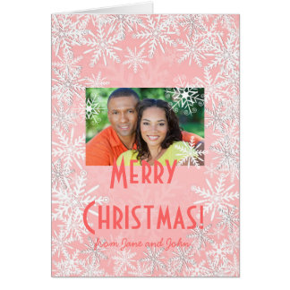 Pink Christmas Note Card