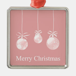 Pink Christmas Ornaments Decoration