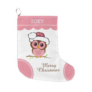 Pink Christmas Owl