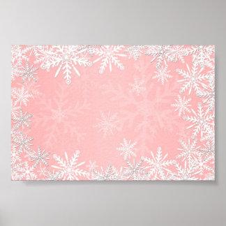 Pink Christmas Poster