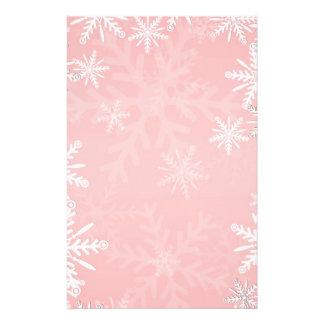 Pink Christmas Stationery Design