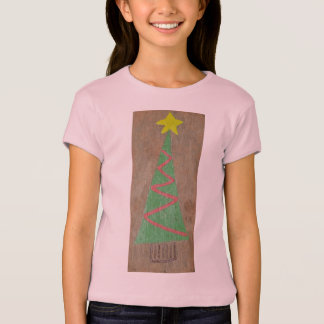 Pink Christmas Tree T-Shirt