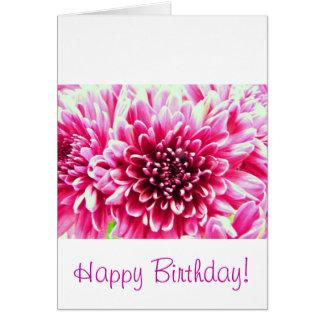 Pink chrysanthemum card