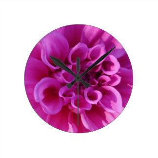 Pink Chrysanthemum Wallclocks