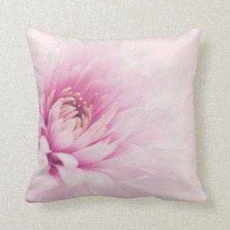 Pink chrysanthemum cushion