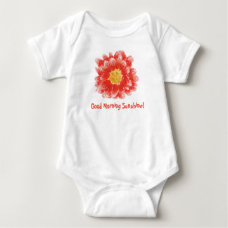 Pink Chrysanthemum Flower Bodysuit