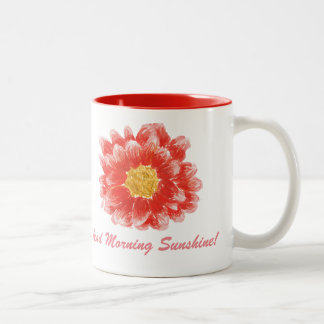 Pink Chrysanthemum Flower Mug
