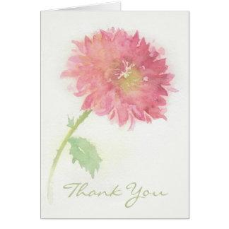 Pink Chrysanthemum Flower Thank You Card