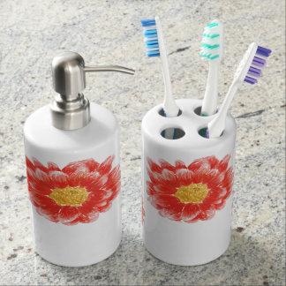Pink Chrysanthemum Flower Toiletry Set