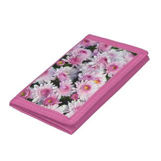 Pink chrysanthemum flowers wallet