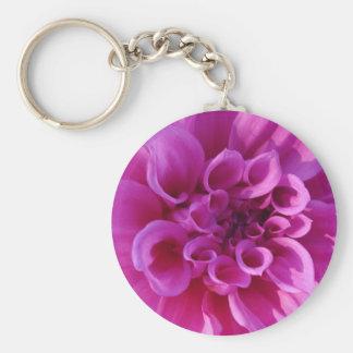 Pink Chrysanthemum Keychains