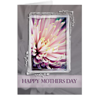 Pink Chrysanthemum Mothers Day Card