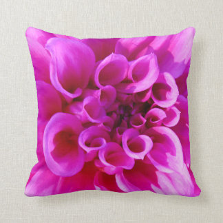 Pink Chrysanthemum Throw Cushions