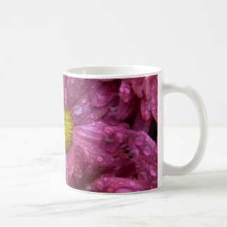 Pink Chrysanthemum with Raindrops Coffee Mug