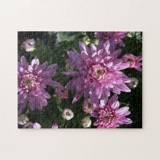 Pink Chrysanthemums Jigsaw Puzzles