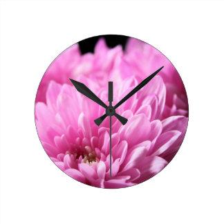 Pink Chrysanthemums Wallclock