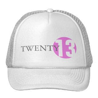 Pink circle modern classic age year girls hat