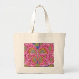 PINK Circle Waves full of Love n Warm Energy: GIFT Tote Bag