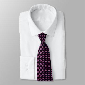 Pink Circles Black Tie