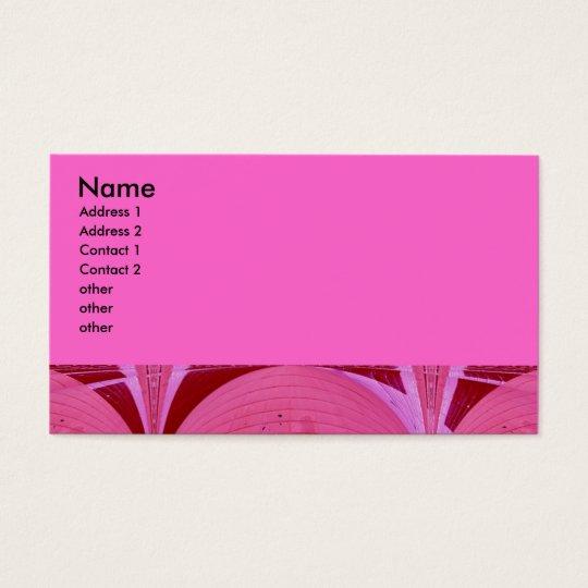 pink circles business card