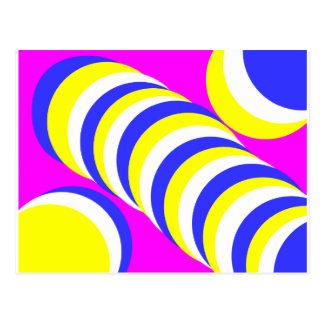 pink circles post card