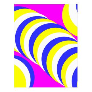pink circles postcard