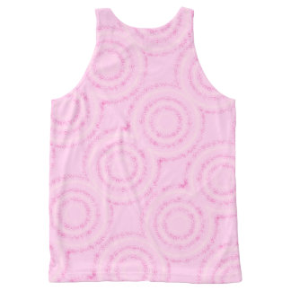 Pink circles tank top