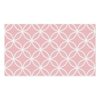 Pink Circular Pattern Pack Of Standard Business Cards