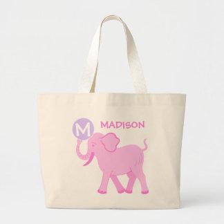 Pink Circus   Baby Girl Cute Elephant Diaper Bag