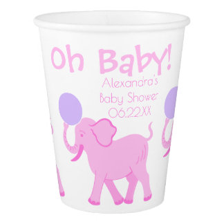 Pink Circus | Baby Shower Cute Girl Personalized