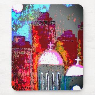Pink City Church Mouse Mat