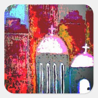 Pink City Church Square Sticker