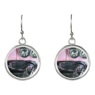 Pink Classic Car Earrings