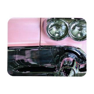 Pink Classic Car Rectangular Photo Magnet