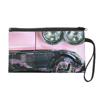 Pink Classic Car Wristlet Clutches