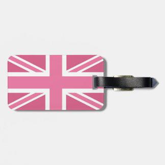 Pink Classic Union Jack British(UK) Flag Luggage Tag