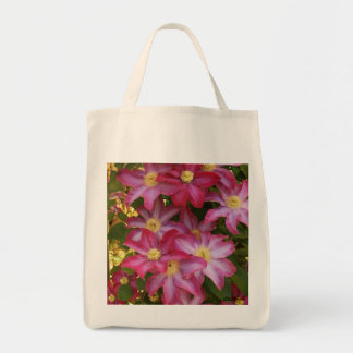 Pink Clematis 2 Grocery Tote Bag