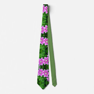 pink clematis and wild oregano tie