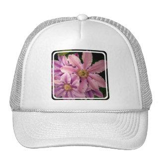 Pink Clematis Baseball Hat